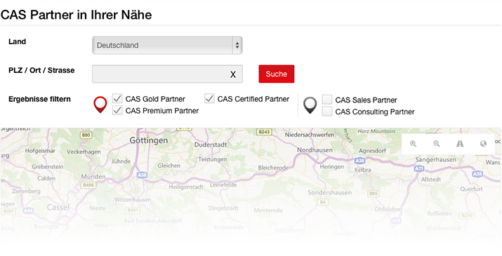 CAS Partner auf YellowMap